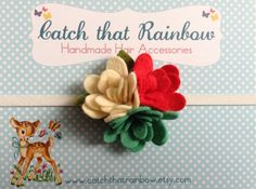 Vintage look baby headband Baby Girl by catchthatrainbow on Etsy