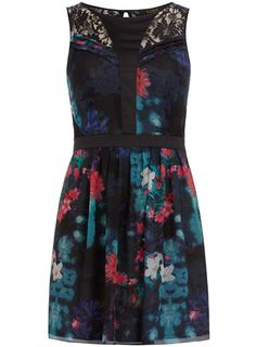 Luxe Smoky floral printed dress