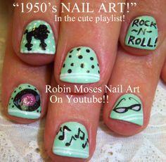Nail-art by Robin Moses; day of school Great Nails, Fun Nails, Diva Nails, Holiday Nail Art, Nail Art Videos, Acrylic Nail Art, Nail Art Galleries, Beautiful Nail Art, Easy Nail Art