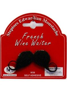 French wine waiter moustache. Perfect for the host of a Movember wine party.
