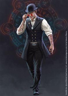 Warlock and magic runes, urban fantasy character inspiration Fantasy Character Design, Character Concept, Character Inspiration, Character Art, Fantasy Rpg, Fantasy Artwork, Dark Fantasy, Fantasy Magician, Dnd Characters