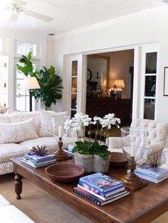 Lovely space (even though I would want color on the chair) & great expiration for coffee table styling!