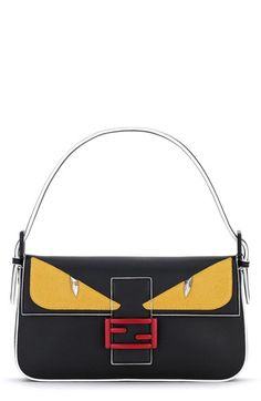 Fendi+'Monster'+Leather+Baguette+available+at+#Nordstrom