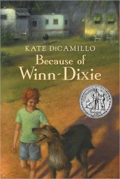 Because of Winn Dixie, by Kate DiCamillo. I love all of Kate's books. I like to follow Shiloh with Winn Dixie.