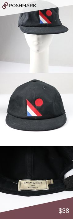 a4b47700c9c8d9 Maison Kitsune Fitted Cap Up for sale is the French designer Masion Kitsune  fitted cap,