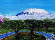 Original Landscape Painting by Phillip Webb Mount Kilimanjaro, Is 11, Saatchi Art, Oil On Canvas, Original Paintings, Mountains, The Originals, Image, Bergen