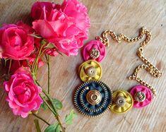 Zipper necklace Zipper jewelry Handmade necklace by NasttiaDesigns