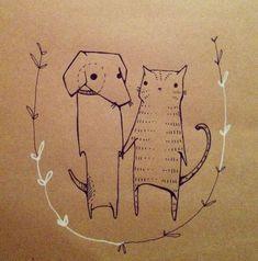 cat illustration by deniz yegin ikiisik #rumisu #illustration #CatIllustration