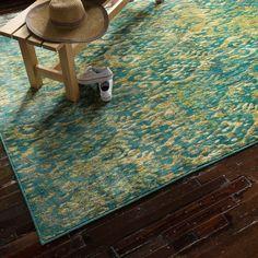 Skye Monet Lagoon Rug (7'7 x 10'5)   Overstock.com Shopping - The Best Deals on 7x9 - 10x14 Rugs