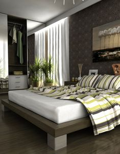 This is very different from my usual style  but I really like the platform  bed  Grey Green BedroomsGray BedroomModern BedroomsBedroom ColorsMaster  Google Image Result for http www tchochkes com wordpress wp  . Grey And Green Bedroom. Home Design Ideas