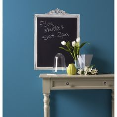 Wallies® Peel and Stick Wall Decal - Framed Chalkboard, $24.99 - target.com