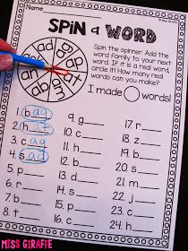 Short A Activities and Resources (including freebies!) - Spin a Word is awesome short vowel reading practice and helps with nonsense word fluency as well! reading, Short A Activities and Resources (including freebies! Short A Activities, Word Work Activities, Phonics Activities, Kindergarten Reading Activities, Kindergarten Word Work, 1st Grade Activities, Kindergarten Language Arts, Leadership Activities, Language Activities