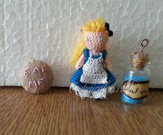 Mini Crocheted Alice  From Alice in Wonderland