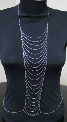 SILVER LADDER VS inspired Body Chain by HelloScarves on Etsy, $34.00
