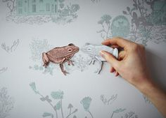 This cute magnetic wallpaper by Sian Zeng & more wallpaper ideas at www.justkidswallpaper.com