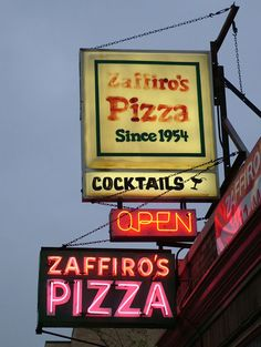 Great Milwaukee pizza with cracker thin crust...
