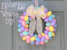 My Life According to Pinterest: DIY: Easter Egg Wreath