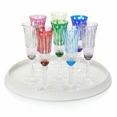 Saint-Louis Tommy Champagne flutes  www.artedona.com