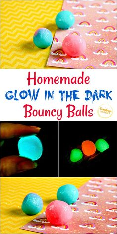 Homemade Glow In The Dark Bouncy Balls Easy Crafts For Kids, Diy For Kids, Summer Crafts, Bored Kids, Bouncy Ball, Craft Activities, Toddler Activities, Steam Activities, Toddler Fun