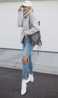 🍁What's Trending: 37 Stylish Outfits Simple Outfits, Stylish Outfits, Winter Outfits, Winter Chic, Autumn Winter Fashion, Winter Style, Fall Fashion, White Baseball Cap Outfit, Soccer Mom Outfits