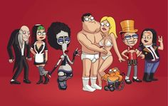 American Dad Rocky Horror Picture Show Rocky Horror Show, The Rocky Horror Picture Show, American Dad, American Horror, 90s Cartoons, Adult Cartoons, Good Morning Usa, Cleveland Show, The Frankenstein