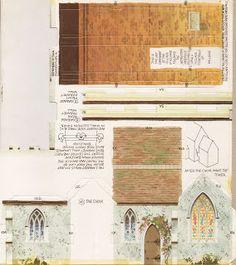 Toys and Stuff: Kellogg's UK Paper Village Pt 4 - Village Church (pt 2)
