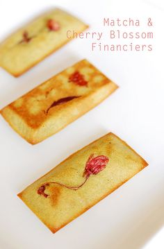 Matcha & Cherry Blossom Financiers