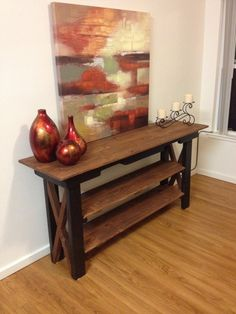 Wooden Pallet crafts use as side table in your hallway