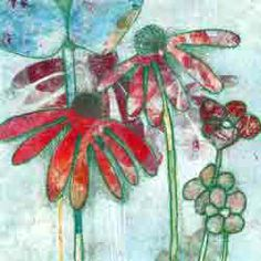 Carol Nunan - A Printmaker: Latest Floral Monotypes added to Flickr account