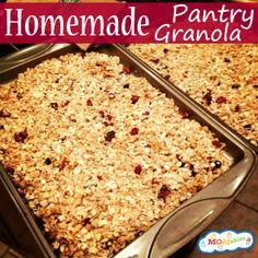 Homemade Pantry Granola MOMables.com