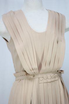 Calvin Klein Size 8 Blush Silk Dress