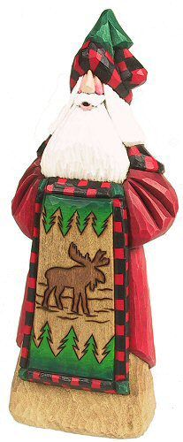 Moose quilt Santa - David Francis