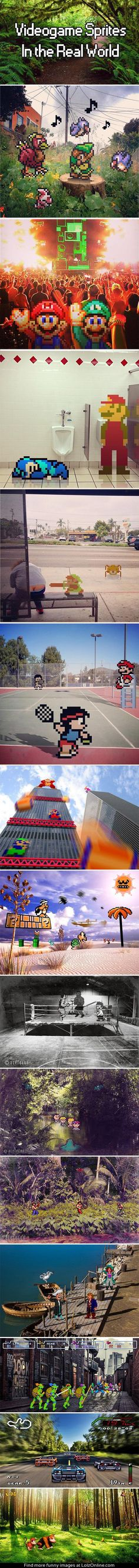 Videogame sprites in the real world... | Lolz Online