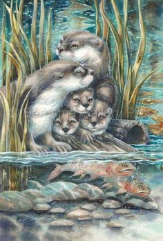 2015/'So Happy We Have Each Otter' - Original Painting by Jody Bergsma