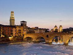 Verona - The Ponte Pietra on the Adige River