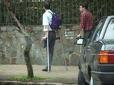 One-legged student duo