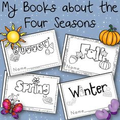 My Books about the Four Seasons Winter Spring Summer Fall for kindergarten and 1st grade