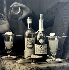 From the David Nathan-Maister's Encyclopedia Men drinking Pernod Fils Absinthe #absinthe #belle epoque #ritual