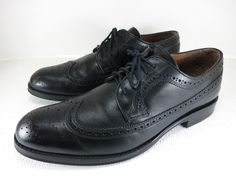 Stafford Brogued Leather Wingtip Fashion Oxfords Dress Footwear Men's Shoes 12 M #Stafford #Oxfords