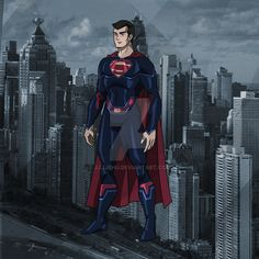 Superman (Year One) redesign by jjjjehu Superman Suit, Superman Family, Superman Pictures, Dc Comics, Justice League Animated, Ajin Anime, Comics Universe, Dc Heroes, Live Action