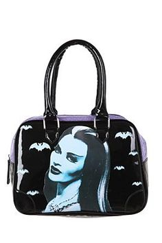 Lily Munster bowling bag purse. YES.