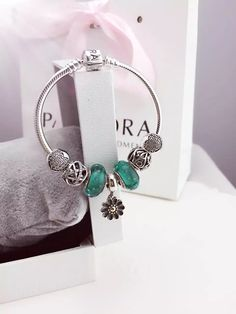 50% OFF!!! $199 Pandora Charm Bracelet Green. Hot Sale!!! SKU: CB01773 - PANDORA Bracelet Ideas