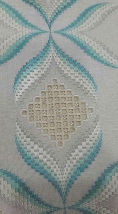 Hardanger Embroidery - Her Crochet Bargello Needlepoint, Motifs Bargello, Broderie Bargello, Bargello Patterns, Needlepoint Stitches, Hardanger Embroidery, Diy Embroidery, Cross Stitch Embroidery, Embroidery Patterns
