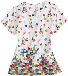 0664dae6a29 See more. Autism Awareness Scrubs - Trust Your Journey 100% Cotton 1 In 88  Notch Neck Scrub