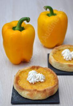 Tartelette poivrons et tomates jaunes, comme une tarte au citron - Dans la cuisine d'Audinette