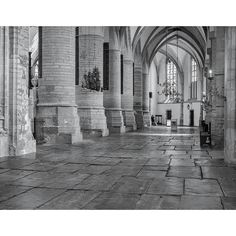 Items similar to Interior of the St. Bavo Church, Haarlem: A Black and White Photograph on Etsy Travelogue, The St, Delft, Belgium, Netherlands, Holland, Dutch, Photograph, Europe