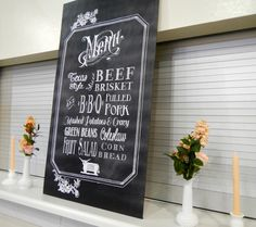 Chalkboard Wedding Menu {free Template