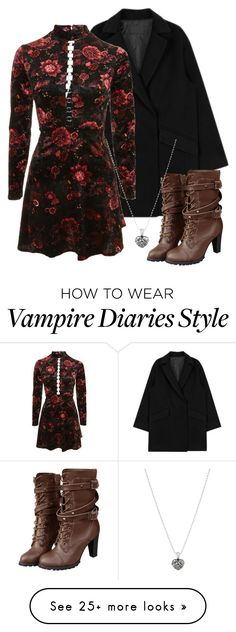 """""""Esther Inspired Outfit - The Vampire Diaries / The Originals"""" by fangsandfashion on Polyvore featuring Topshop and Lagos"""