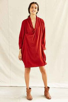 Urban Renewal Remade Gauze Cocoon Dress - Urban Outfitters