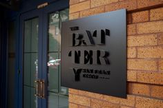 The Battery San Francisco logo signage. Design by MMSF via www.mr-cup.com